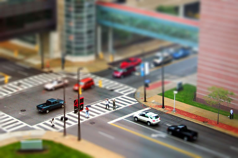 Crossroads - Tilt-Shift Photography
