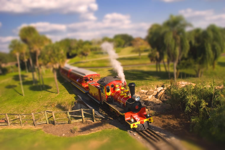 Train – Tilt-Shift Photography